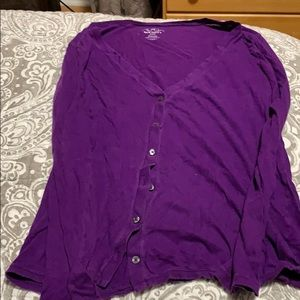 Purple button up shirt